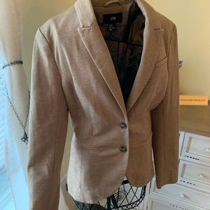 H&M Size 6 Light Brown Career Blazer